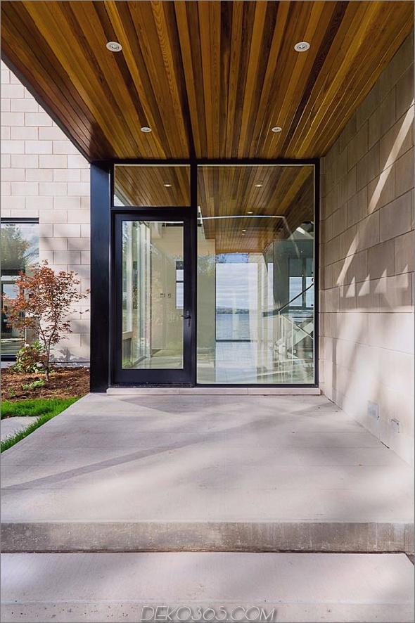 Haus im modernen Stil mit Glaswänden am Flussufer 2 2 Haus im zeitgenössischen Stil mit Naturgedanken: Glaswände und Blick auf den Fluss