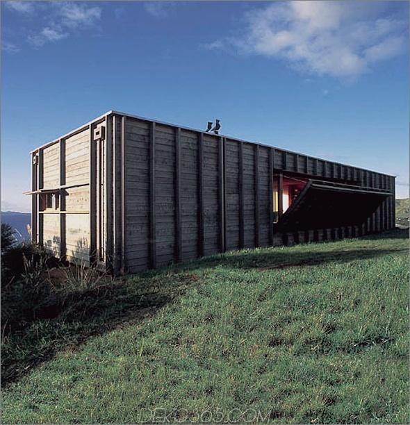 Ein Blick auf ein Buh-Haus öffnet sich im Freien