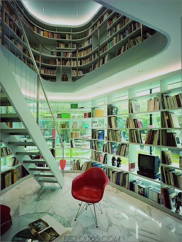 Haus mit zweistöckiger Glasbibliothek 1 thumb autox836 34677 Haus mit zweistöckiger Glasbibliothek