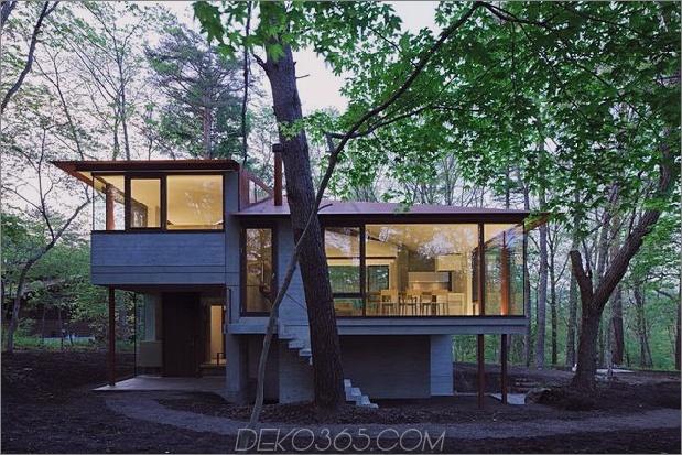 Haus unterteilt 4 Dachlinien um die zentrale Säule 1 außen thumb 630xauto 41476 Haus teilt vier Zonen und Dachlinien um die zentrale Säule