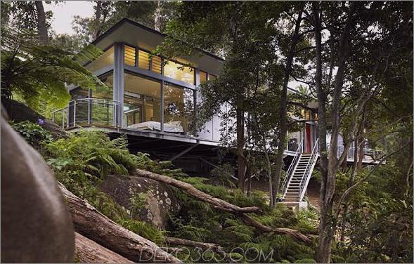 Haus der Kirche 2 Haus und Architektur aus Glas und Stahl - Zeitgenössisches Design in Sydney, Australien