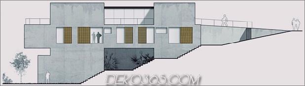 Hillside House mit 2 Betonvolumen, 2. Eingang, Brücke_5c59ad089e746.jpg