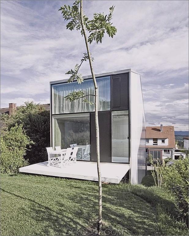 hohes minimalistisches Haus aus Hanglage, gebaut aus Beton 2-Deck-Garten autox784 41734 Großes, minimalistisches Haus aus Hanglage, gebaut aus Beton