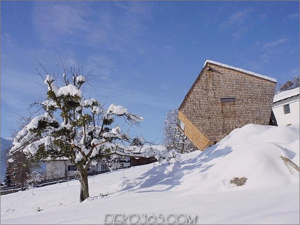 Holz-Schuppen-Österreich-Berghaus-Haus mit geneigten Wänden-3.jpg