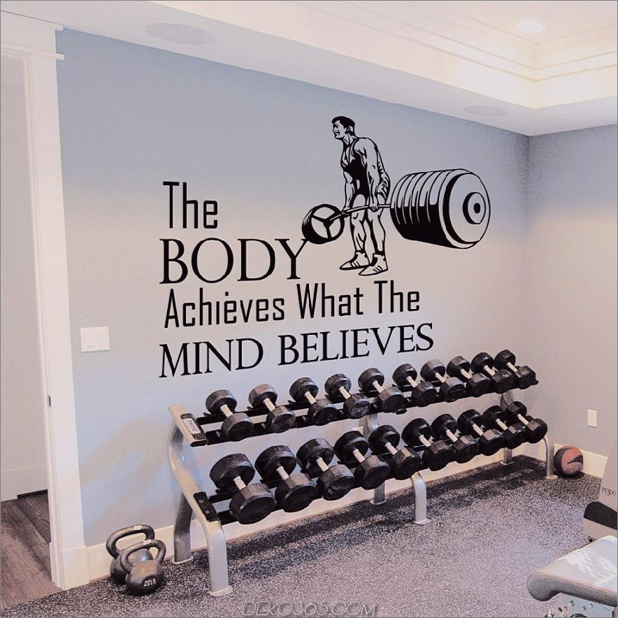 Gym inspirierend Zitat Vinyl Aufkleber