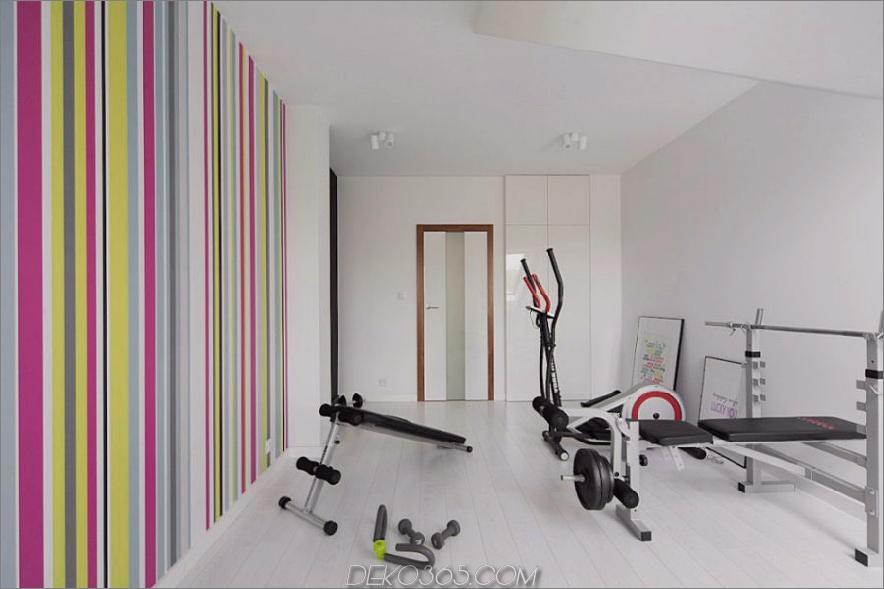 Fitnessraumwand