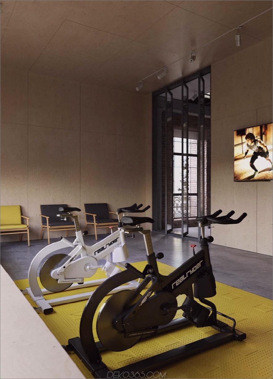 Fitnessstudio im Industriestil