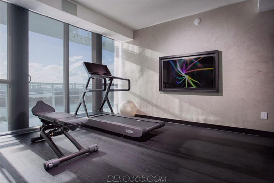 Fitnessstudio in einem Penthouse in Miami Beach