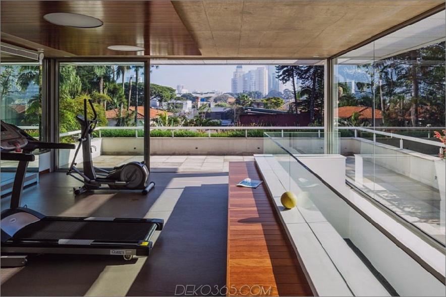 MG Residence halb offenes Fitnessstudio