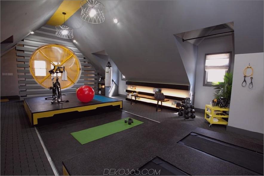 Dachgeschoss Fitnessstudio