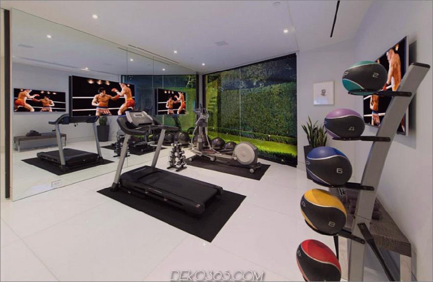 Zeitgenössisches Fitnessstudio in Bel Air