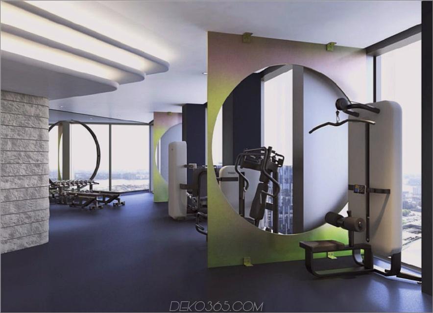 Von Tom Dixon entworfenes Fitnessstudio