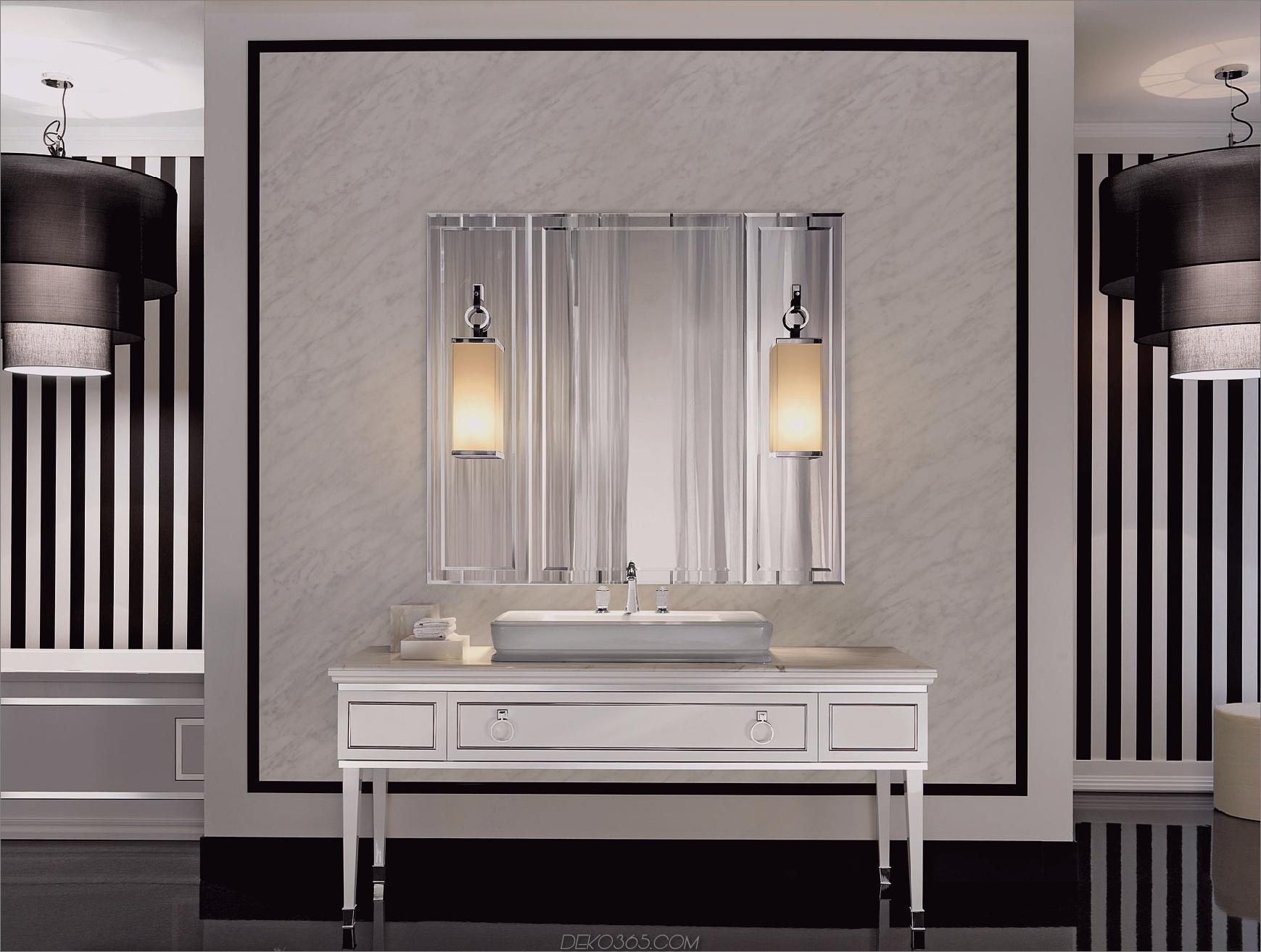 Art Deco-Badezimmerbeleuchtung Badezimmerleuchten Ideen für jeden Stil
