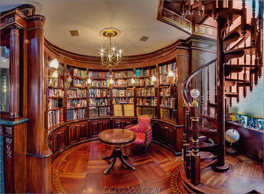 Circular Classic Home Library 900x659 In diesen 38 Home-Bibliotheken fühlen Sie sich wie Belle