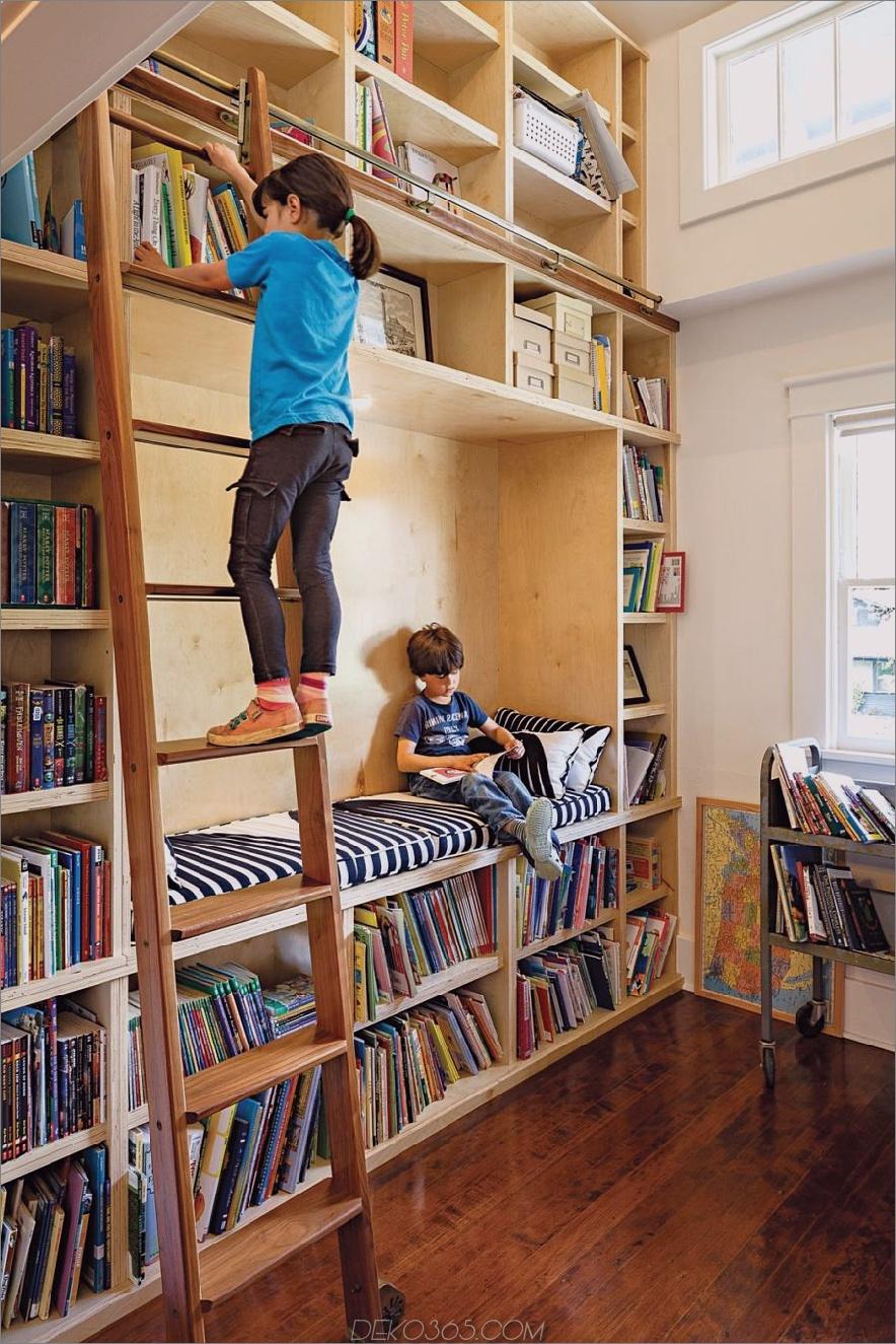 Kinder-Zuhause-Bibliothek-Design-mit-Leiter