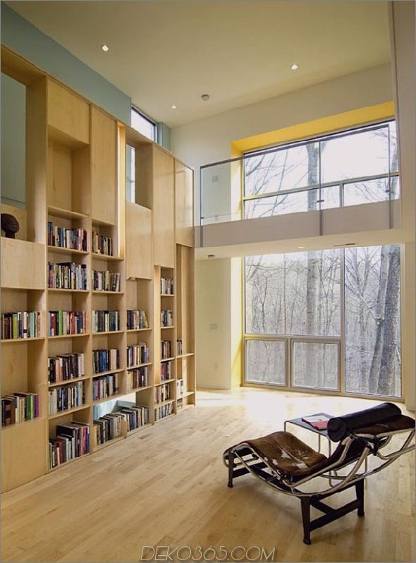 Moderne einfache Heimbibliothek