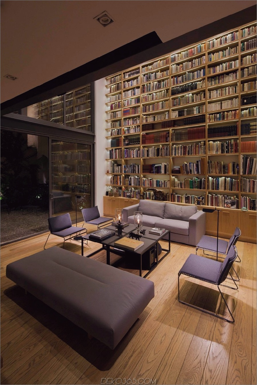 Coole, lässige Heimbibliothek