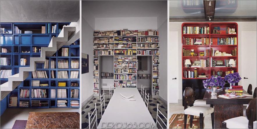 Trendige, einzigartige Home-Bibliotheken