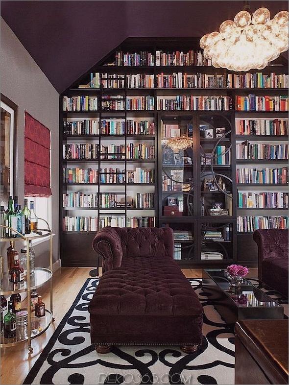 Luxuriöse Heimbibliothek