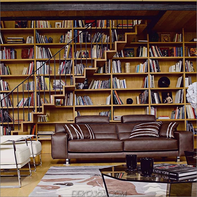 Trendy Home Library Design