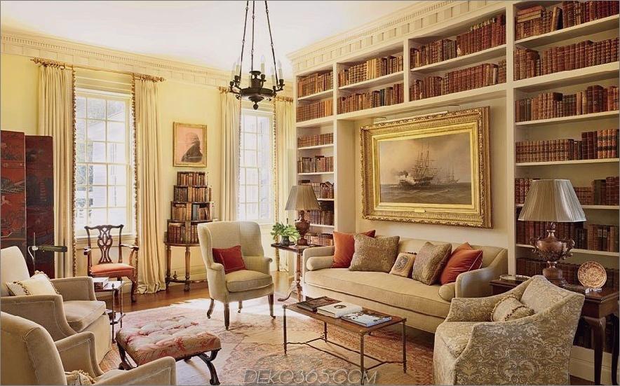 Elegante Heimbibliothek