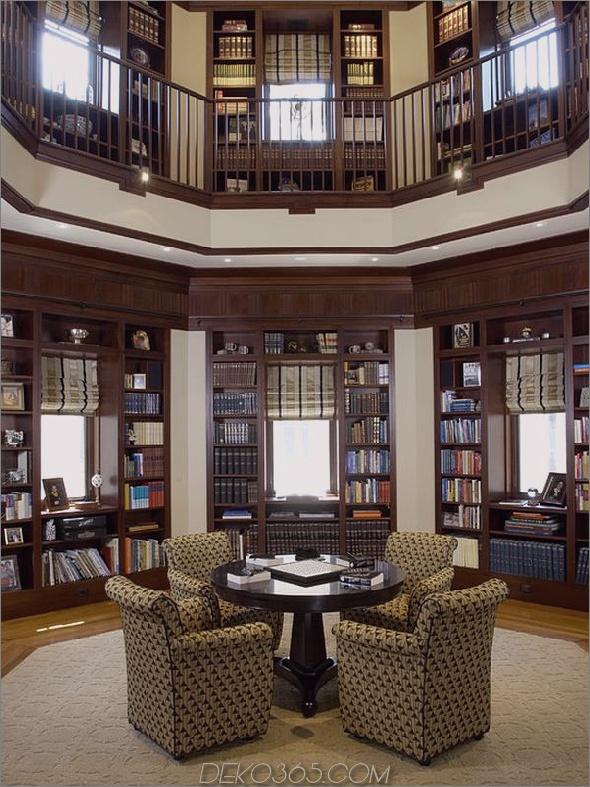 Zwei-Ebenen-Heimbibliothek