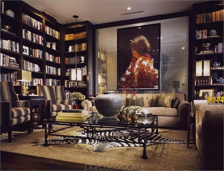 Schwarz und Gold Home Library