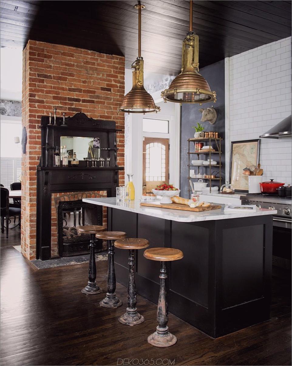 Industrielle Küche aus Backstein Industrieküchen, die Ihnen den Atem rauben werden