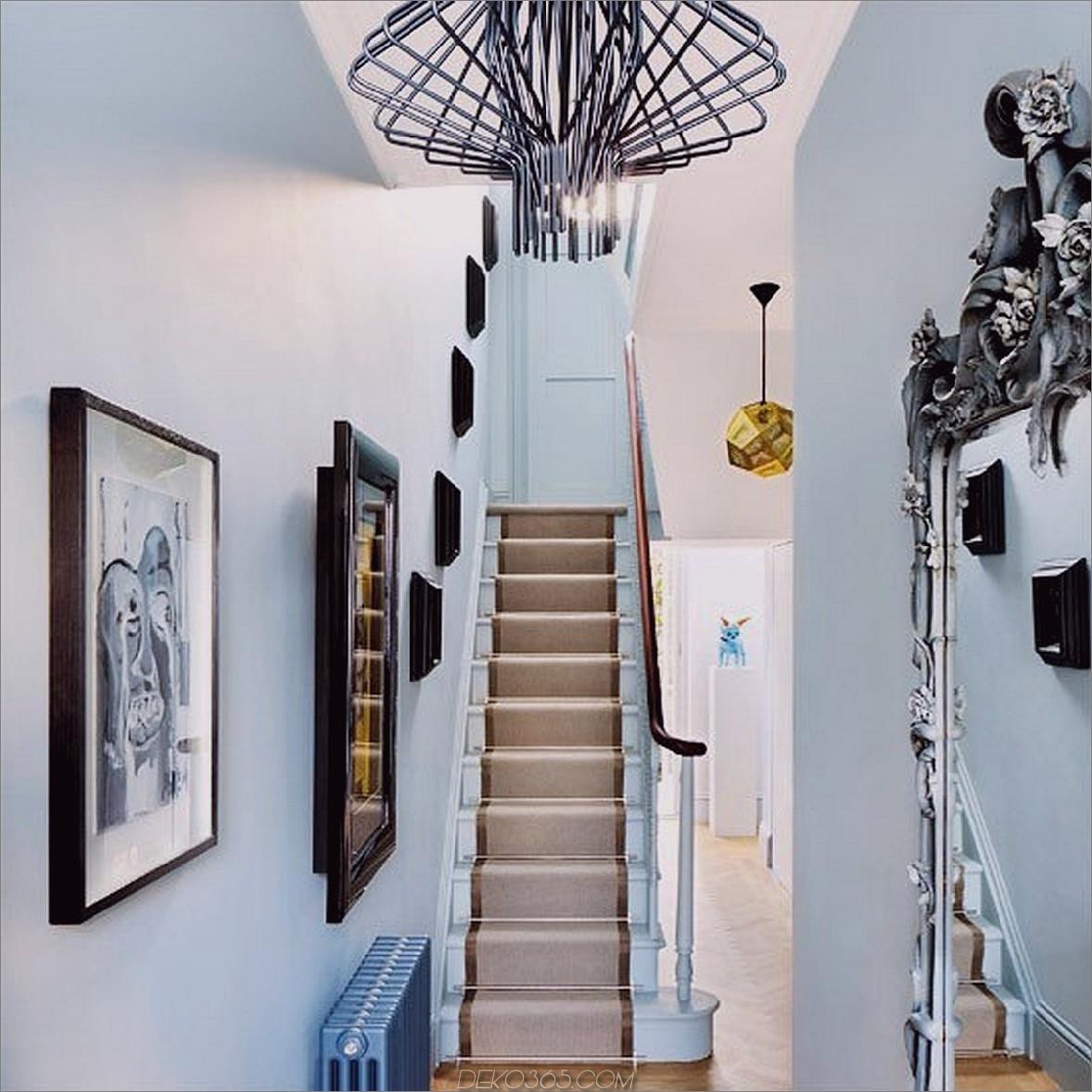 modernes Treppenhaus mit Leuchte Innovative Staircase Decorating Ideas