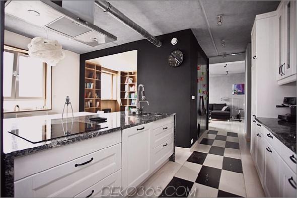 Bookbox Loft Modelina 1 Inspirierendes Apartment Design mit einer Black Box von Mode: Lina