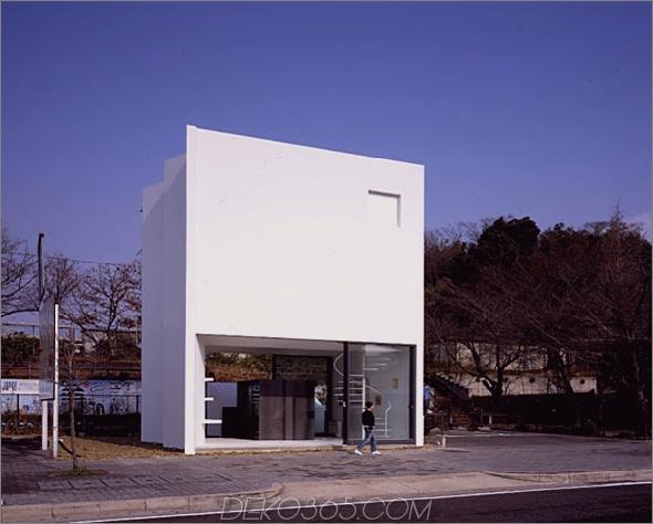 Nagoya Residence 1 Hinter der minimalistischen Fassade verborgene japanische Wohnarchitektur