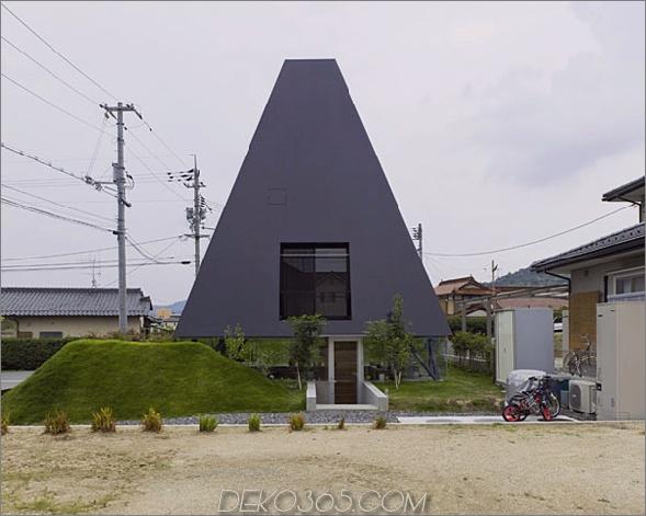 saijo house 1 Haus im japanischen Architekturstil mit Pyramidenform