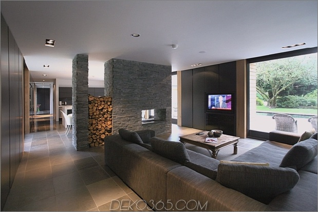 Kamin als Raumteiler nicolas tye architects thumb 630xauto 60212 Kamine als Raumteiler: 15 Doppelseitige Designideen