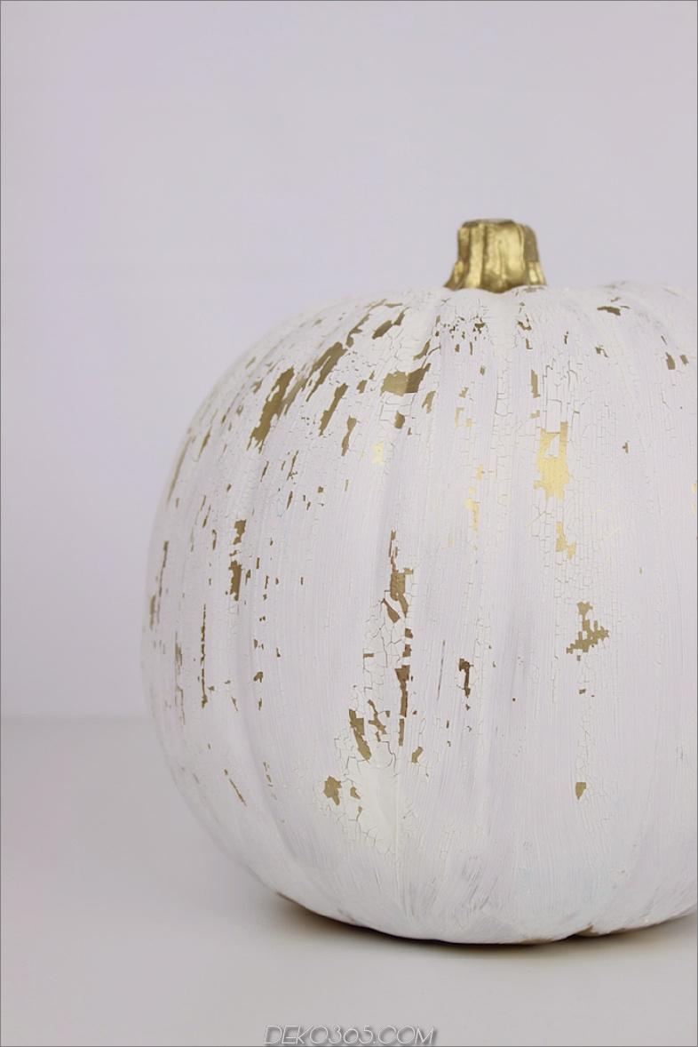 Geknisterter Farbenkürbis kein schnitzen Kürbis, der Ideen für Erntedankfest und Halloween verziert