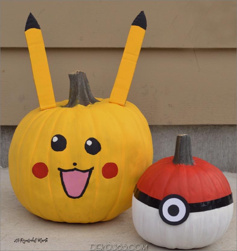 Pokeball-Pikachu-Kürbisse