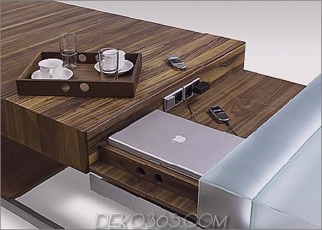 Küchenarbeitsplatz verwandelt sich in eine Computerstation