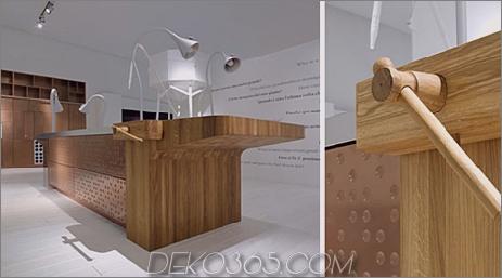 Schiffini-Konzeptküche - Innenwand aus pockenkupiertem Kupfer