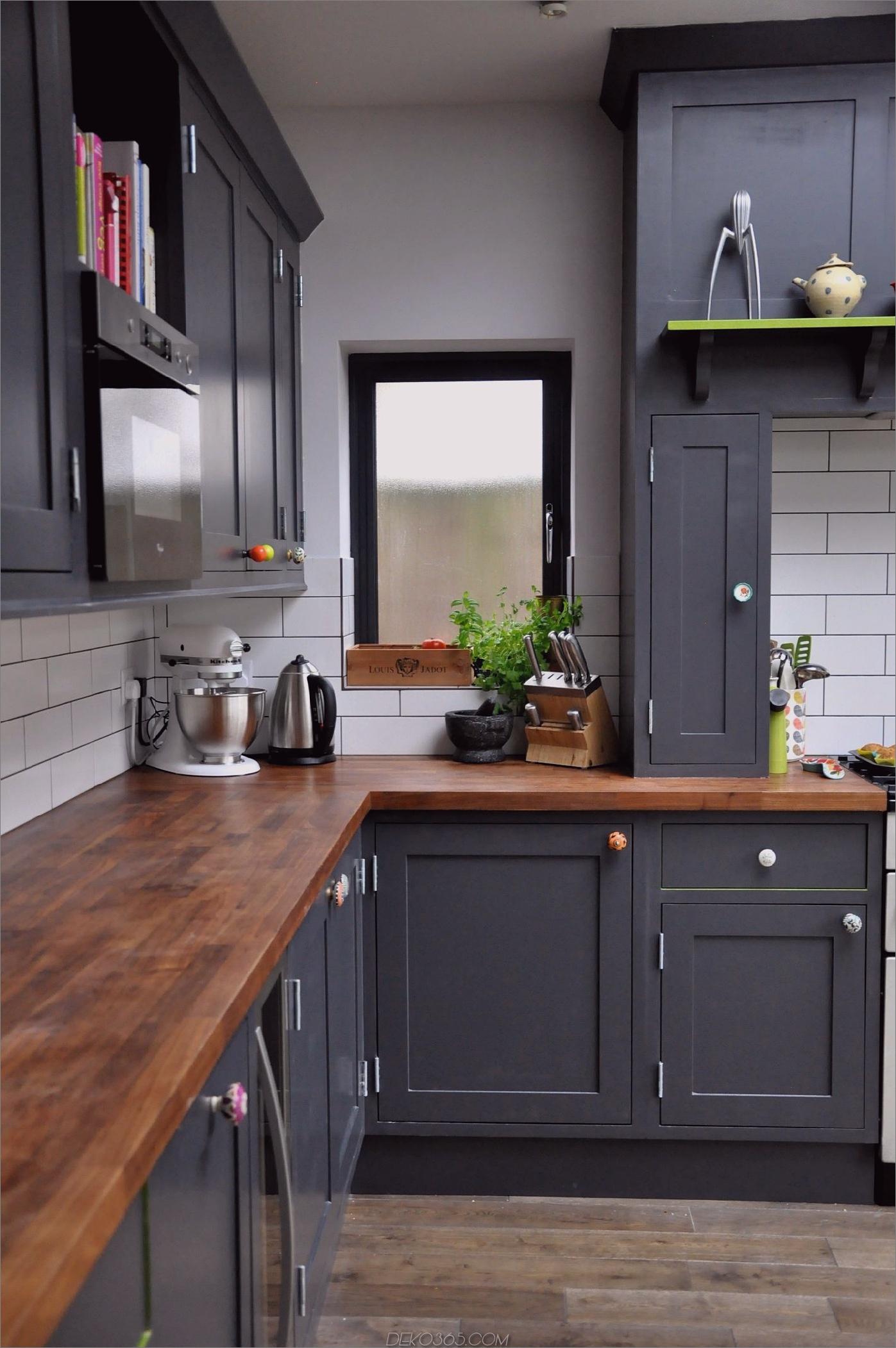 anthrazitfarbene Küche Winzige Küchen, die Sie lieben werden