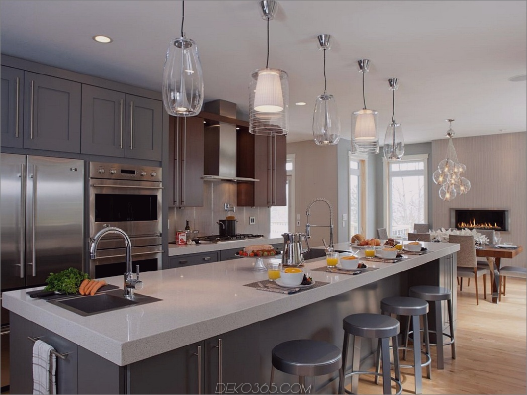 Pendelleuchten Küche Kleine Küchentrends, die den Raum erhellen