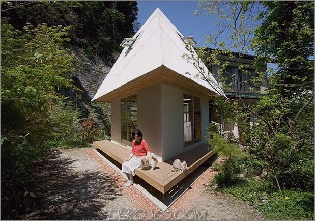kompakter, diamantförmiger Hausplan yuji tanabe 1 Eckansicht, gerader Daumen 630x441 21279 Kompakter, diamantförmiger Hausplan von Yuji Tanabe