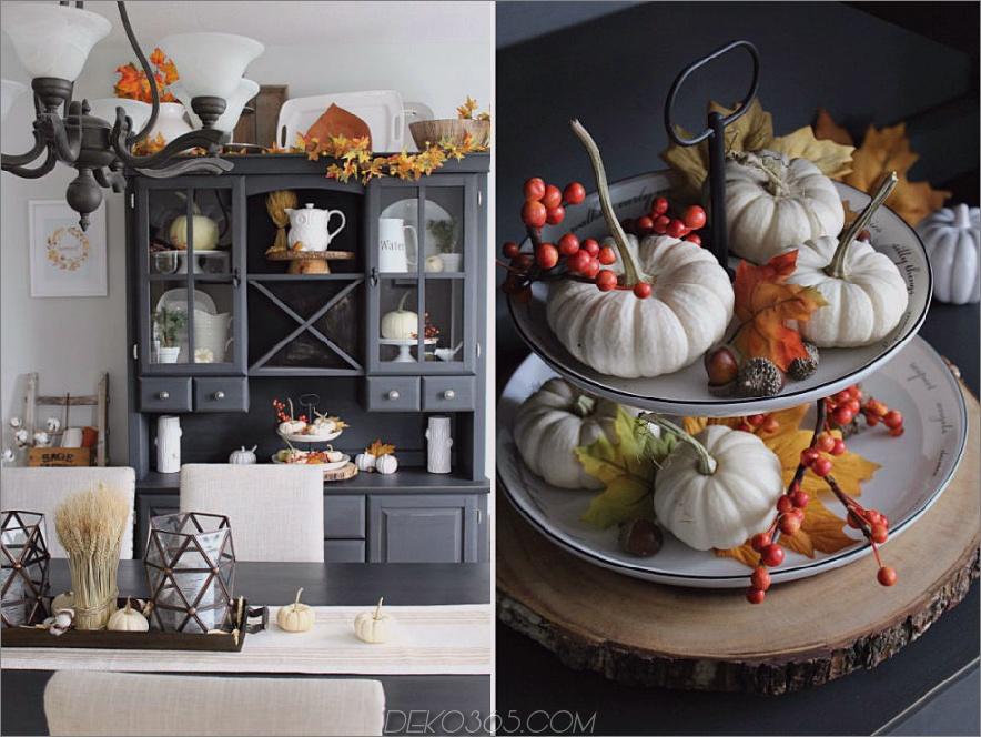 Saubere duftende Küche im Herbststil