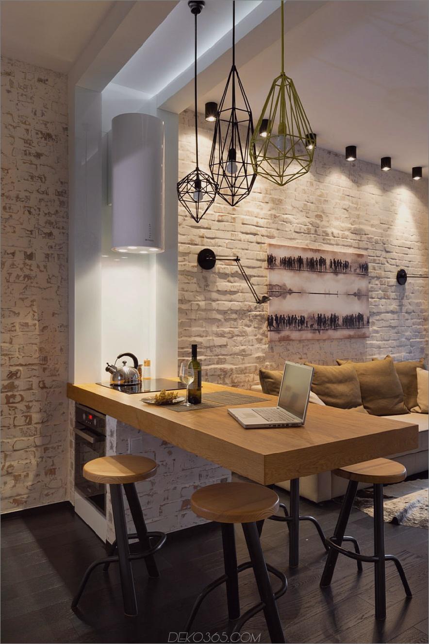 Kleine Küchenhalbinsel mit einem Hotspot und einem eingebauten Ofen 900x1350 Küchen-Halbinsel-Designs, die die Kochräume erstaunlich machen
