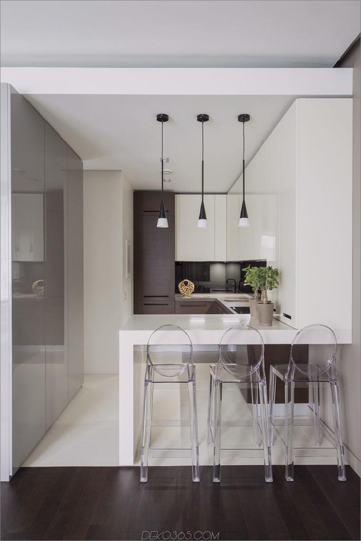 Minimalistischer Küchenhalbinsel-Tisch