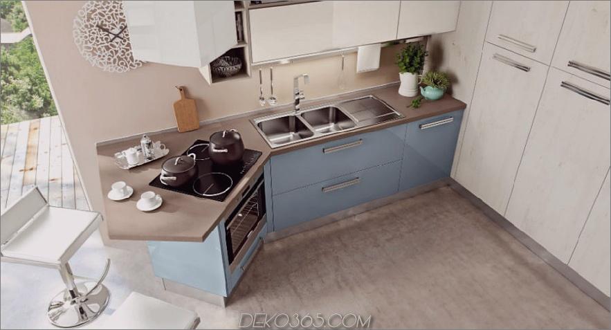 SWING Küche mit Halbinsel von Cucine Lube