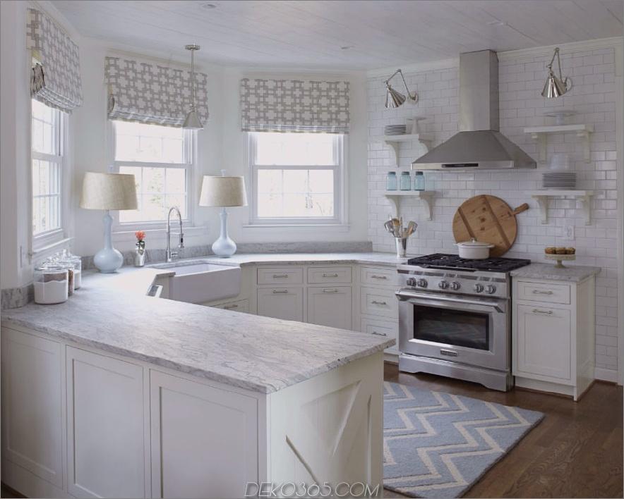 Polygonale Küchentheke