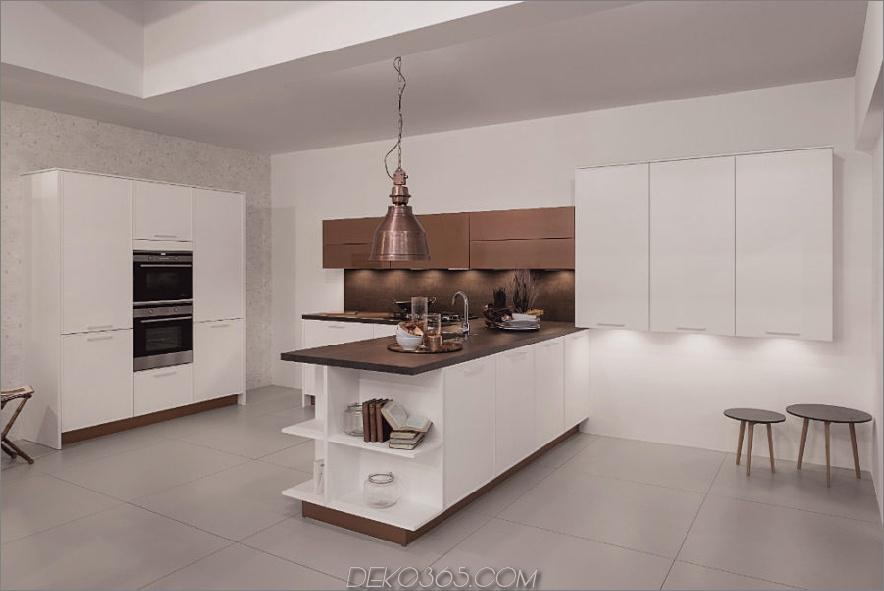 Rortpunkt Küche in Weiß und Bronze