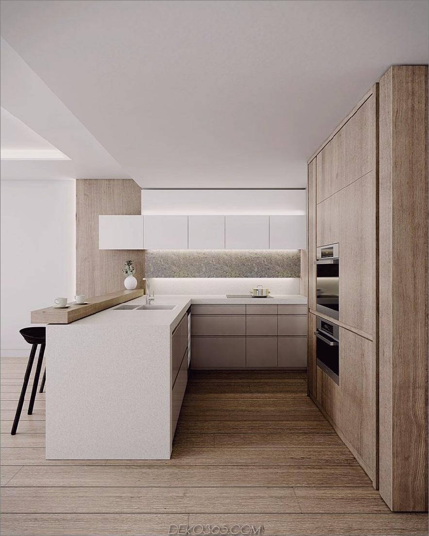 Zeitgenössische Holzküche