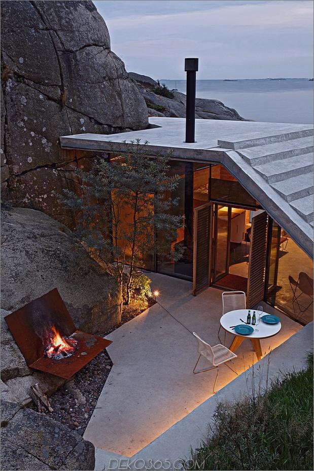 Norwegen Haus in Rock Cabin Knapphullet Lund Hagem 2 thumb autox945 63635 Küstenhütte auf den Felsen in Norwegen: Knapphullet von Lund Hagem