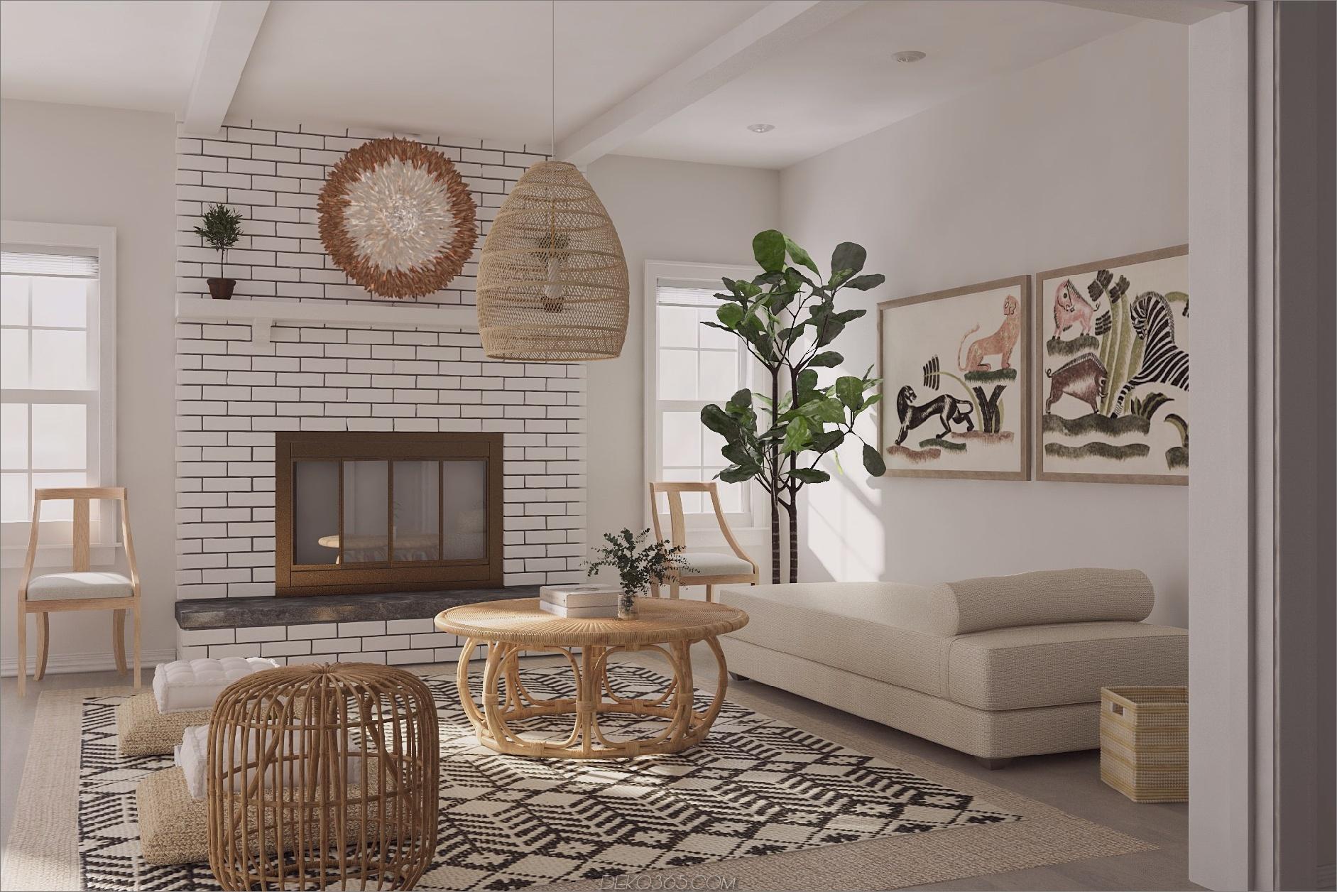 helles und luftiges Wohnzimmer Licht und luftige Räume, ohne hauptsächlich Weißtöne zu verwenden
