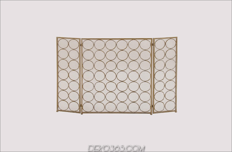 3 Panel Metal Fireplace Screen von Woodland Imports